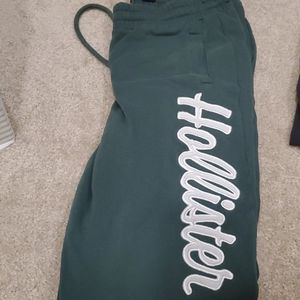 Hollister high waisted joggers.